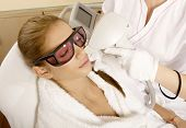 pic of beauty parlor  - Laser hair removal in professional beauty studio - JPG