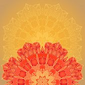 pic of macrame  - vector delicate lace round mandala pattern template - JPG