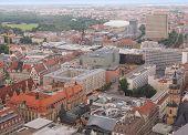 image of leipzig  - Aerial view of the city of Leipzig in Germany - JPG