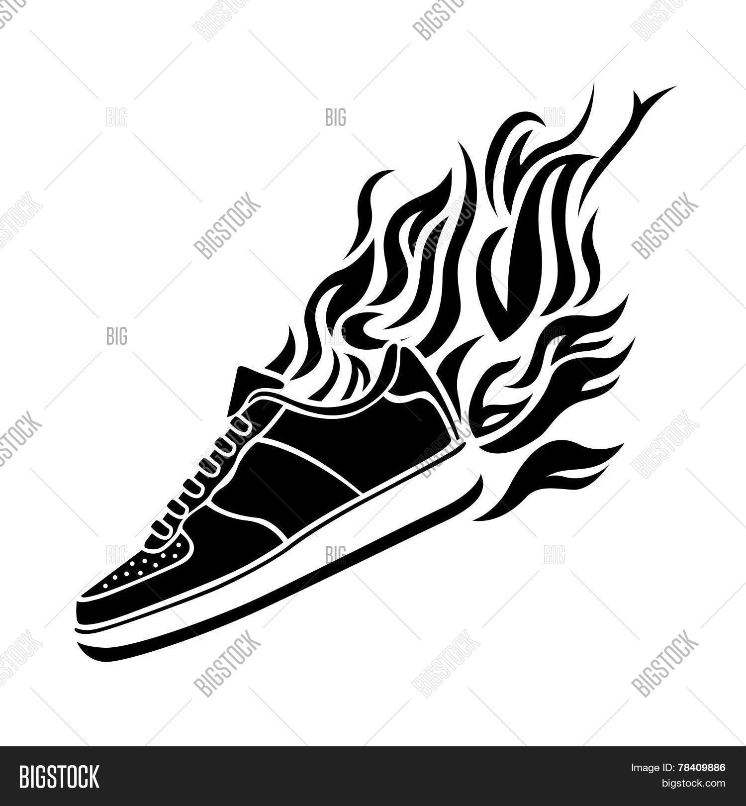 track shoe silhouette illustration silhouette running vector photo bigstock 3437
