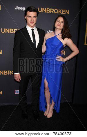 LOS ANGELES - DEC 15:  Finn Wittrock, Sarah Roberts at the