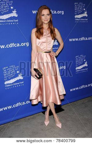 LOS ANGELES - DEC 04:  Darby Stanchfield arrives to the 2014 Beat The Odds on December 04, 2014 in Culver City, CA