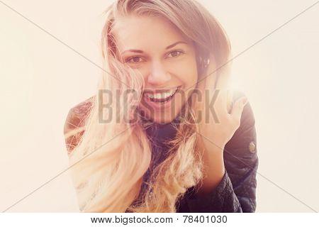 beautiful sunny portrait of a girl