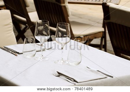 Table in the restaurant