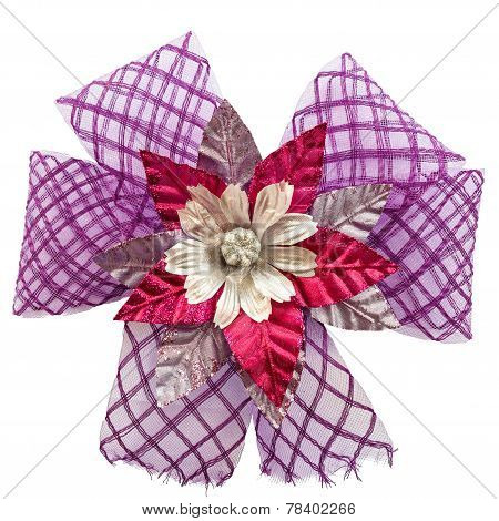 Violet Bow With Flower
