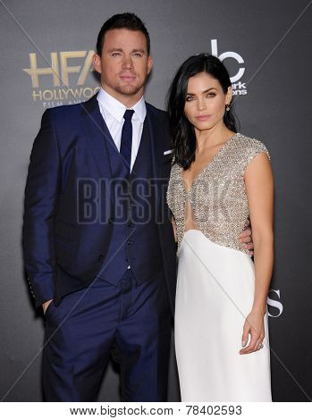 LOS ANGELES - NOV 14:  Channing Tatum & Jenna Dewan-Tatum arrives to the The Hollywood Film Awards 2014 on November 14, 2014 in Hollywood, CA