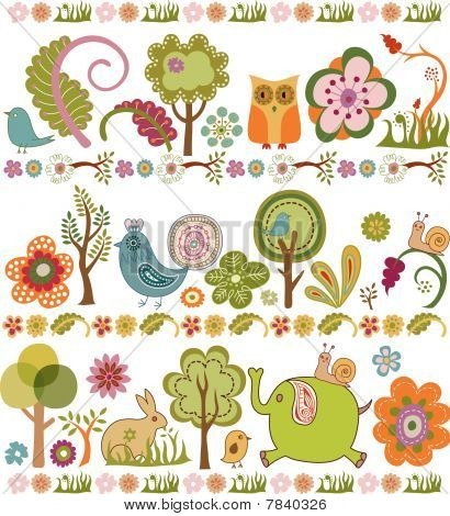 Floral and Baby Animals