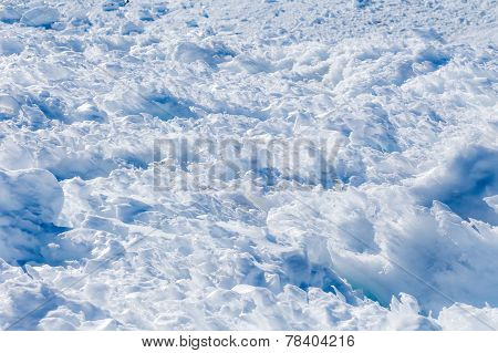 Snow close-up.