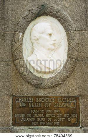 Relief to Charles Brook, second Rajah of Sarawak, Kuching, Malaysia.