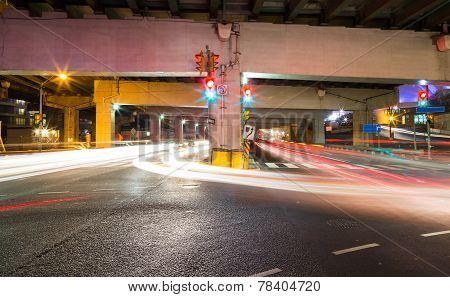 Traffic On An Underpass