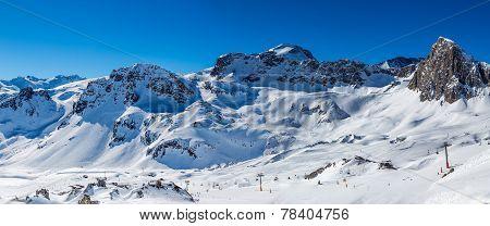 Mountain landscape in Tignes.
