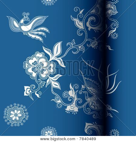 Oriental Floral and Bird