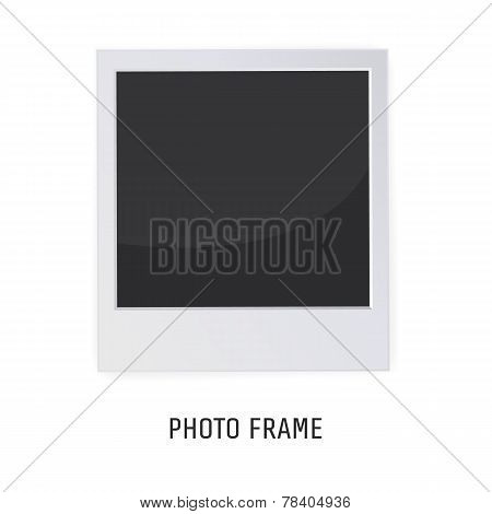 Retro Photo Frame Isolated on a White background. Vector illustration for your artwork, posters, fly