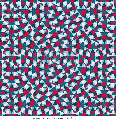 Triangles mosaic geometric seamless pattern. 90s style. Vector illustration for your artwork, banner