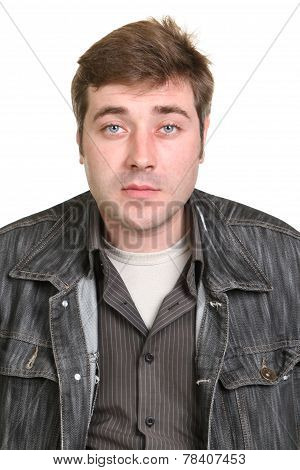 Young Guy In A Denim Jacket