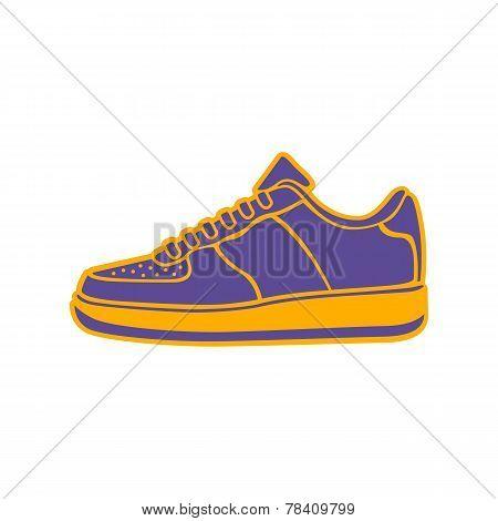 Speeding running shoe icons color variations vector logo