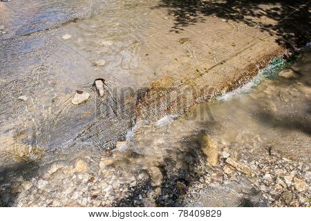 The water of the mountain river
