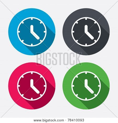 Clock sign icon. Mechanical clock symbol.