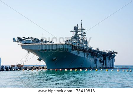 Turkish Aircraft Carrier ship, Kusadasi, Turkey