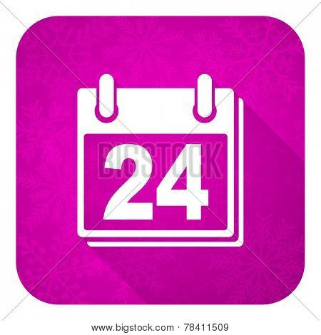 calendar violet flat icon, christmas button, organizer sign, agenda symbol
