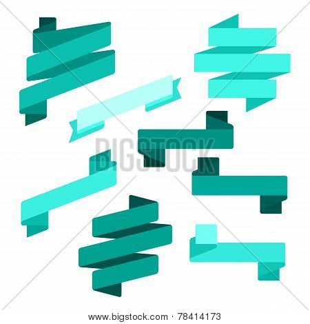 Infographics vector Creative trendy ribbon flat business financial