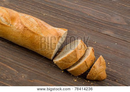 a wake-up from fresh white bread. food from the bakery