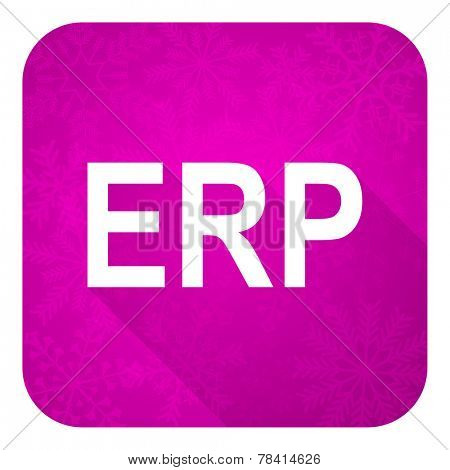 erp violet flat icon, christmas button