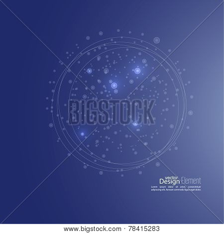 Abstract background with cell, amoeba, molecule structure