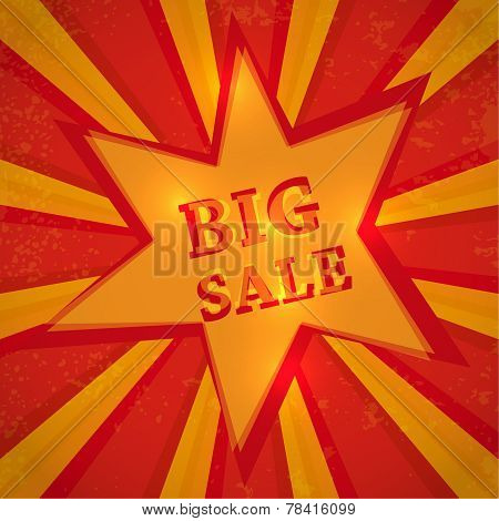 Star with text big sale