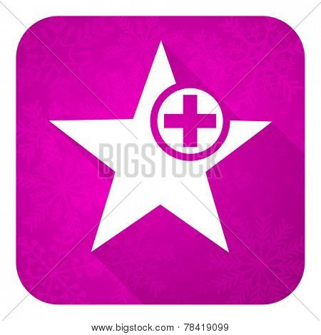 star violet flat icon, christmas button, add favourite sign