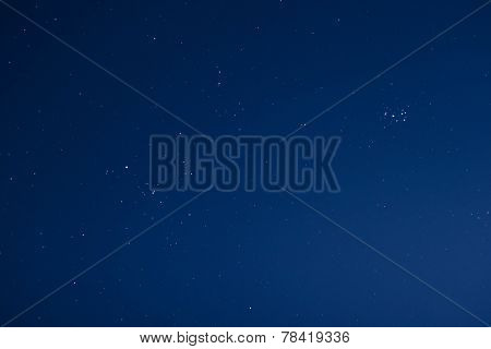 Stars in a clear night sky