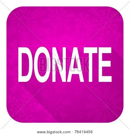 donate violet flat icon, christmas button