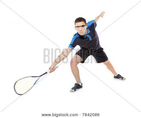 A squash player