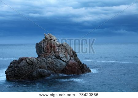 seascape  rock in the sea