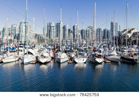 Sailboats On False Creek