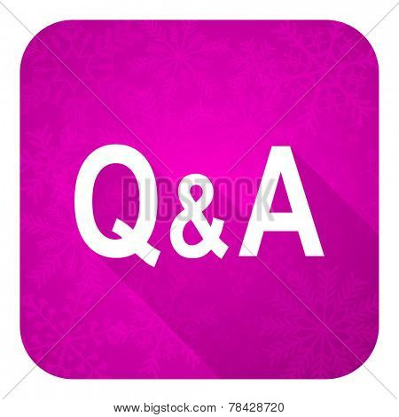 question answer violet flat icon, christmas button