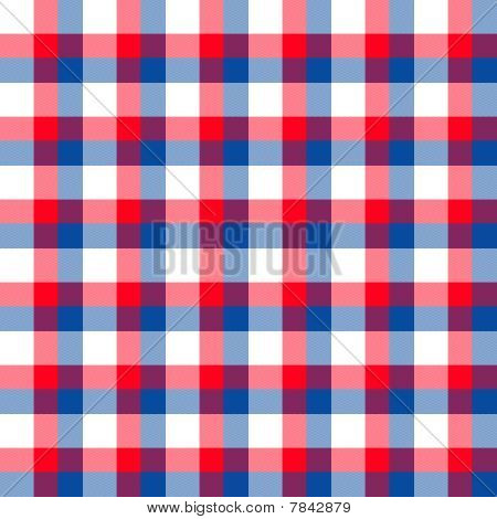 Red White Blue Plaid