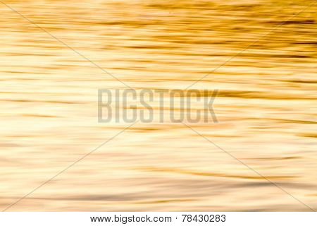 Blurry Background Of Wave With Gold Color