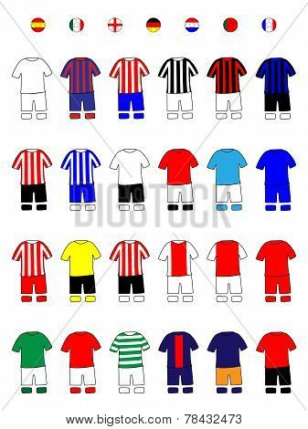 European Clubs Jerseys Football Kits A