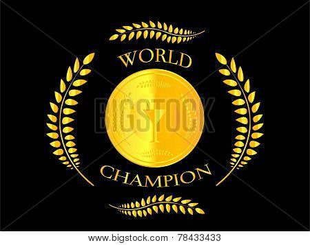World Champion Laurel Wreath