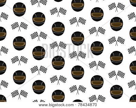 Racing Background Black Helmets