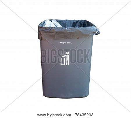 Bin On White Background