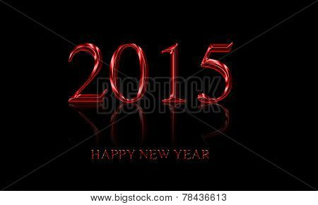 Text Design New Year 2015 Isolated