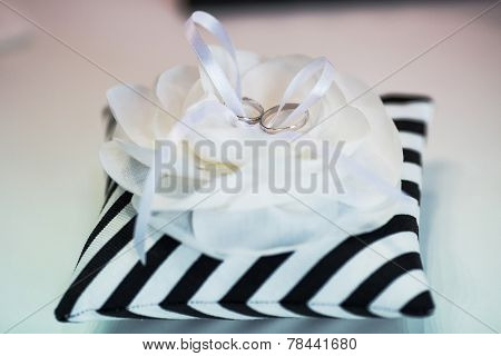 Wedding Rings On Beauty Pillow