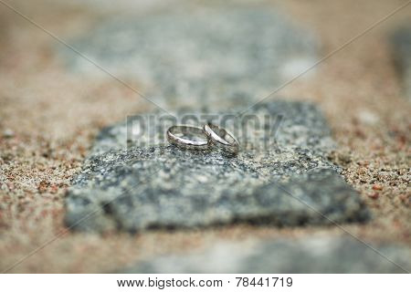 Wedding Rings On Stone