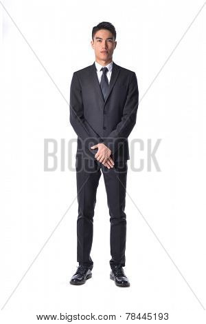 Full body young man posing full body in the studio