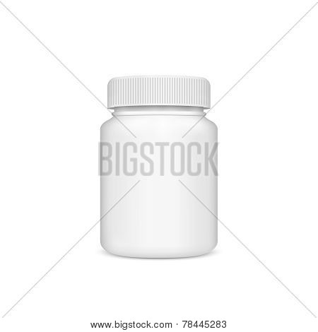 Plastic jar with the lid