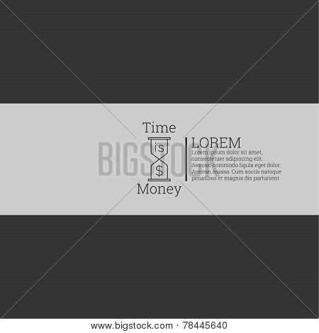 Time is money, money concept.