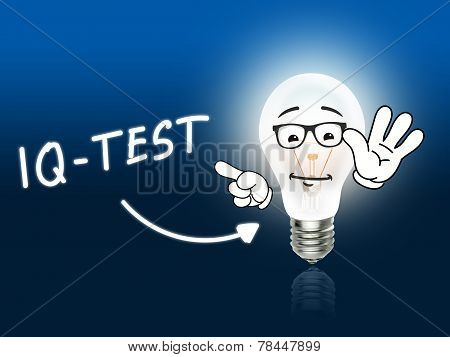 Iq Test Bulb Lamp Energy Light Blue