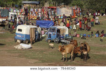 The Market In Turmi.